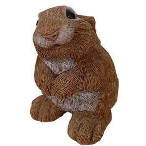 VTG 198os Stone Critter Don James bunny rabbit